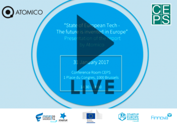 """State of European Tech – The future is invented in Europe"" report will be presented in Brussels by CEPS (STREAMING)"